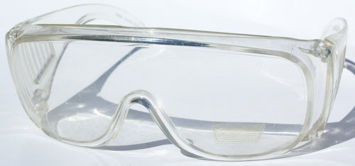 Vintage Clear OverRX shield protective eyewear
