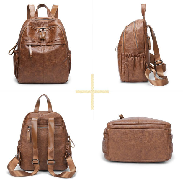 Women PU Leather Backpack