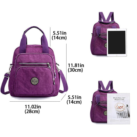 Small Nylon Backpack Waterproof Lightweight Women Daypack - Katherleen