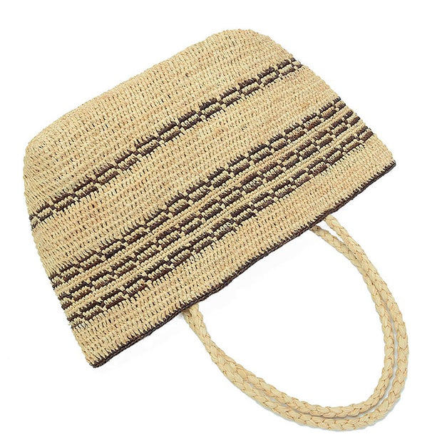 Hand-woven Straw Hobo Bag for Women - Katherleen