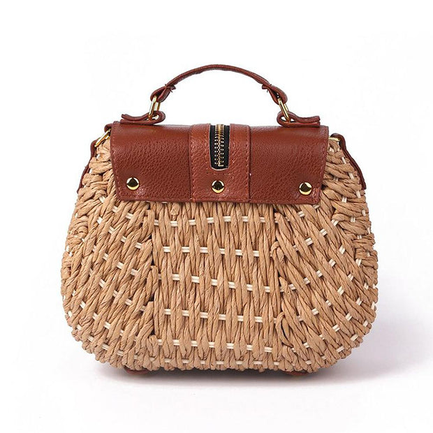 Women Straw Bag Weave Shoulder Bag - Katherleen