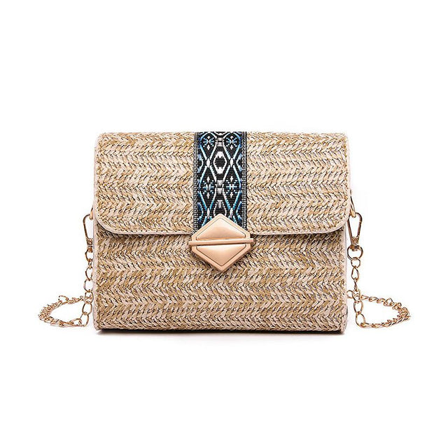 Crossbody Straw Bag Shoulder Bag for Beach - Katherleen