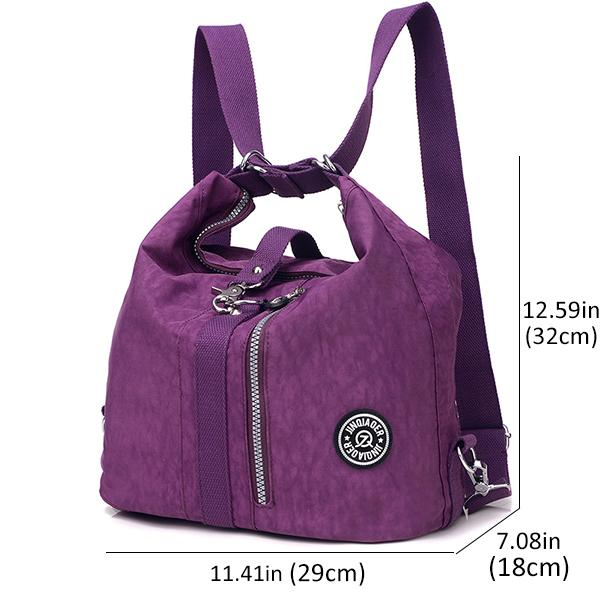 Waterproof Nylon Women Shoulder Bag Daypack