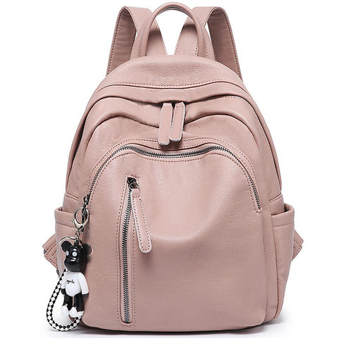 Women Backpack Genuine Leather Anti-theft Bag - Katherleen