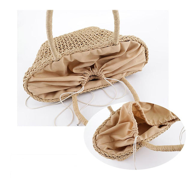 Large Capacity Straw Bag Women Handbag Bag - Katherleen