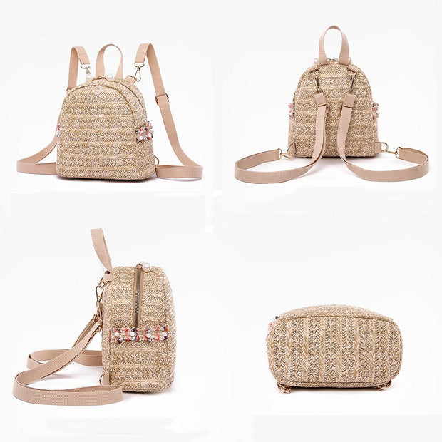 Women Woven Backpack Straw Bag - Katherleen