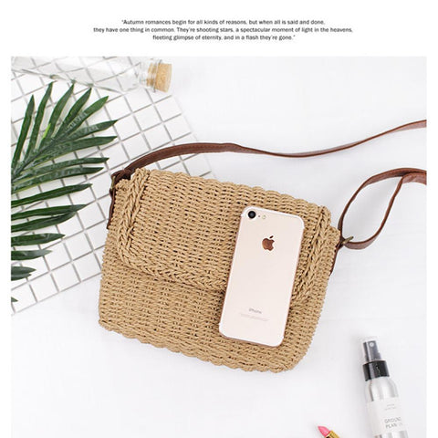 Handmade Straw Bag Women Crossbody bag - Katherleen