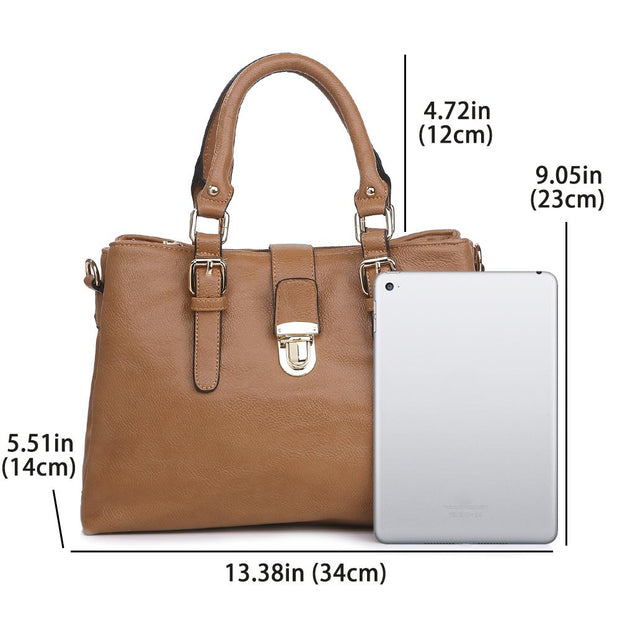 Women's Leather Handbag Top Handle Satchel bags
