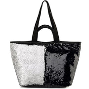 Reversible Sequin Tote Bag Handbag