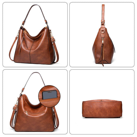 Leather Purses and Handbags with Tassel
