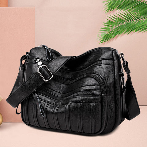 Multi Pocket Women's Shoulder Bag With Top Handle