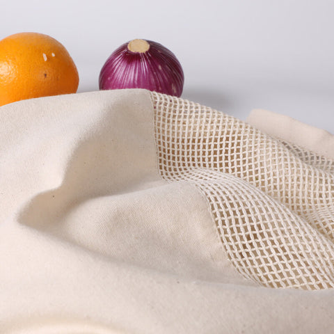 Reusable Grocery Bags Cotton Mesh Net Stretchy Bags