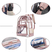 Clear Backpack Transparent Large Bookbag for College