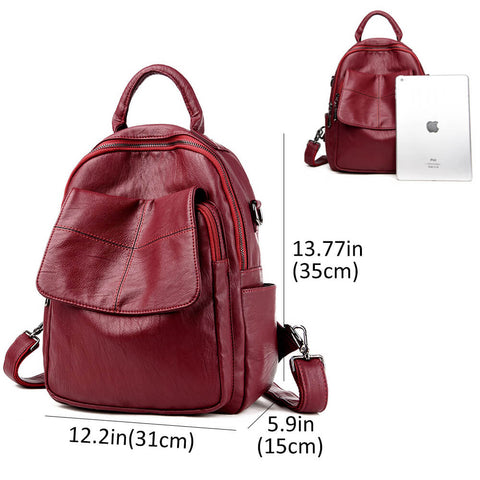 Women Backpack Multifunction PU Leather Bags