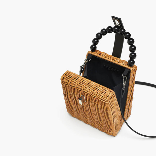 Women's Straw Tote Beach Woven Handle Shoulder Bag