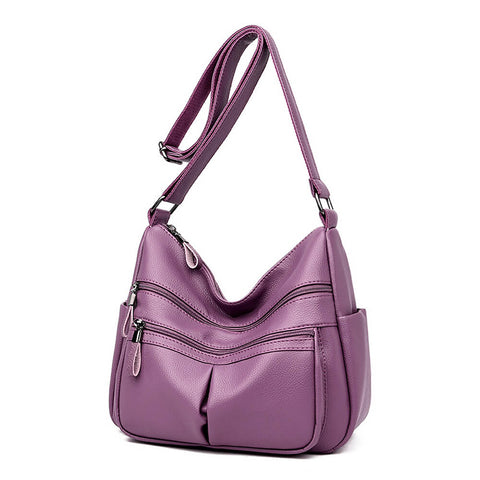 Retro Soft PU Leather Crossbody Messenger Bag