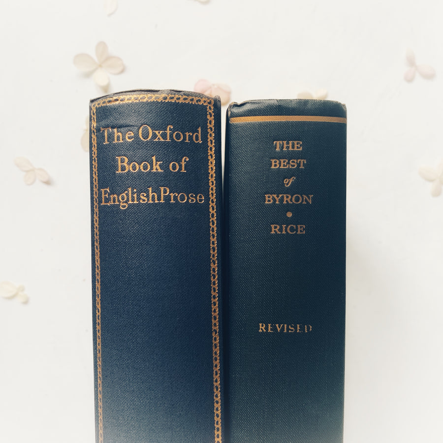 ***Reserved for Noemi- The Oxford Book of English Prose & The Best of Byron