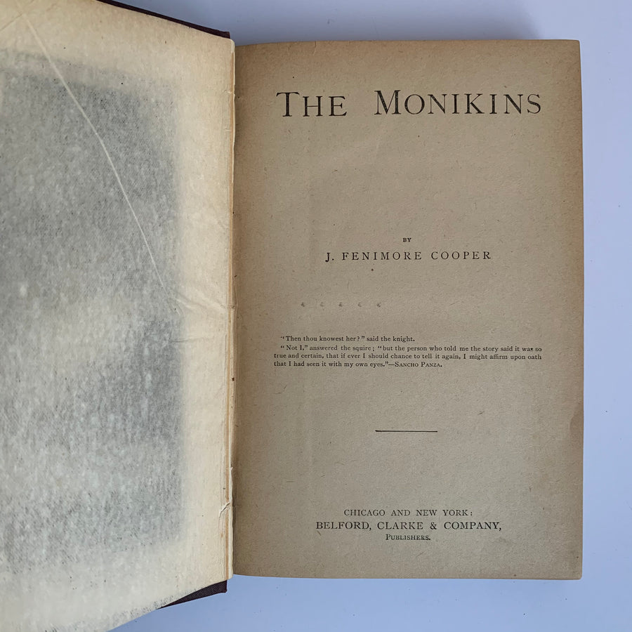 c. Mid-Late 1800s - James Fenimore Cooper's - The Heidenmauer & The Monikins