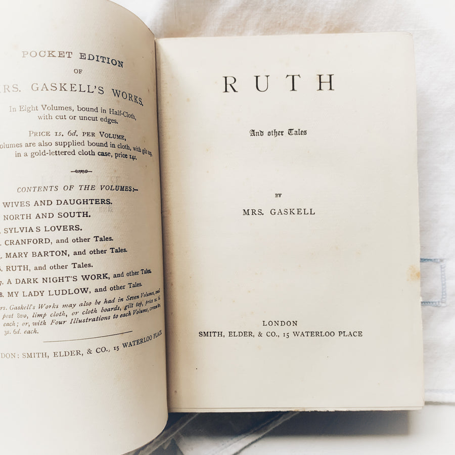 C. 1880s - Mrs. Gaskell's Ruth and Other Tales