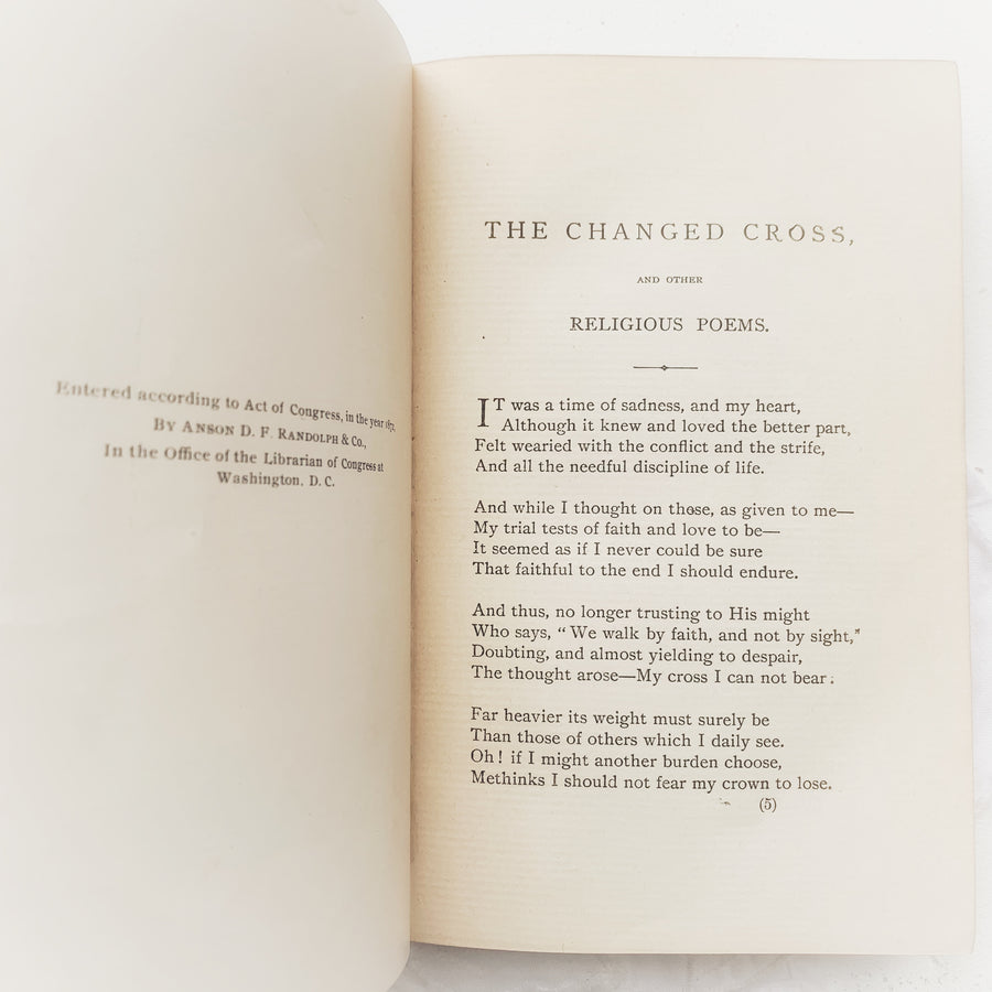 c.1896 - The Changed Cross and Other Religious Poems