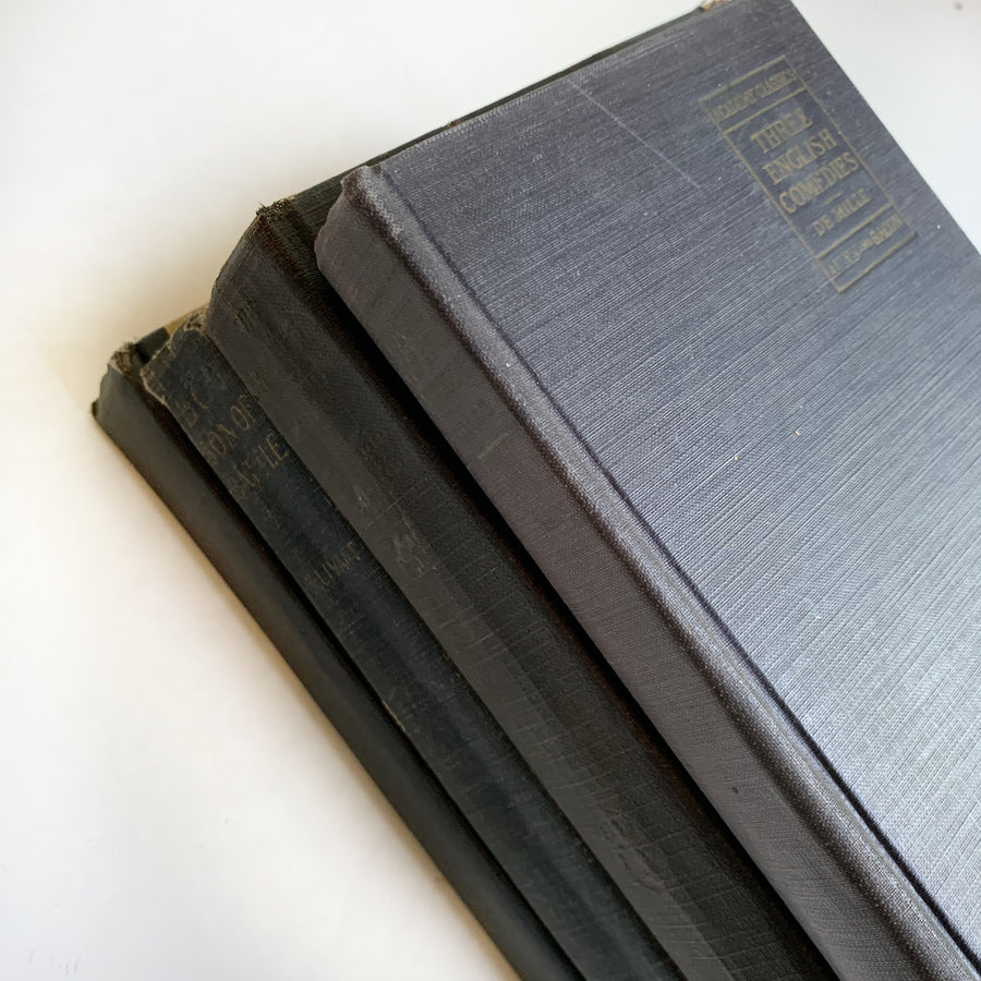Lightly Distressed Black Books/ Spines Set