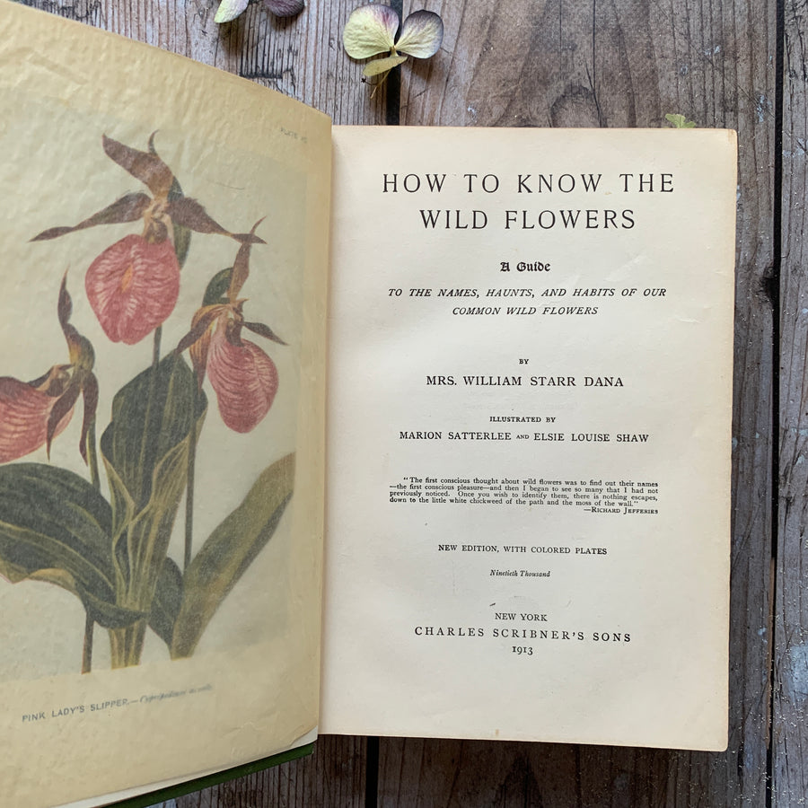 1991, How To Know The Wild Flowers