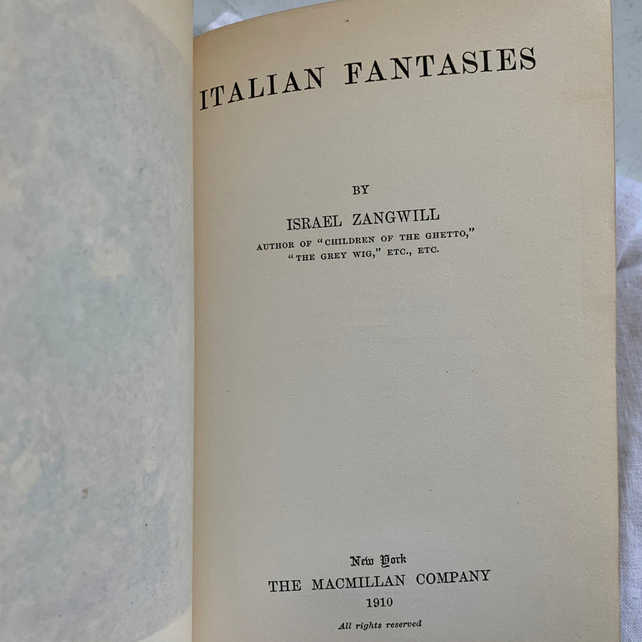 1910 - Italian Fantasies, First Edition
