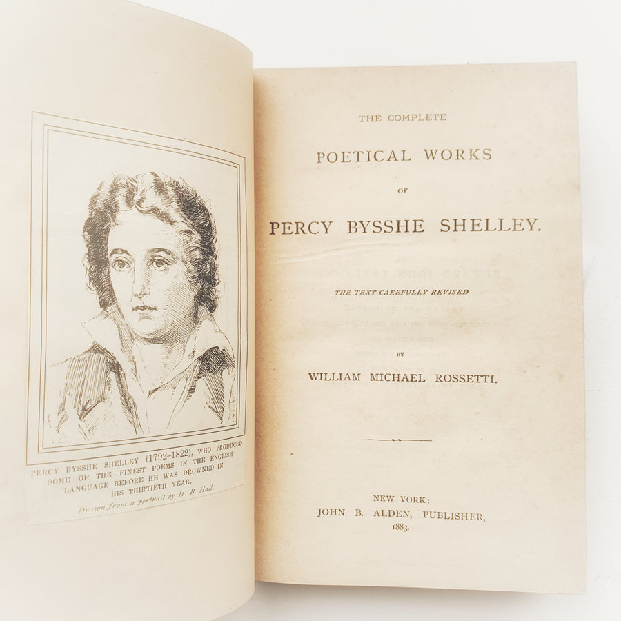 1883 - The Complete Poetical Works of Percy Bysshe Shelley