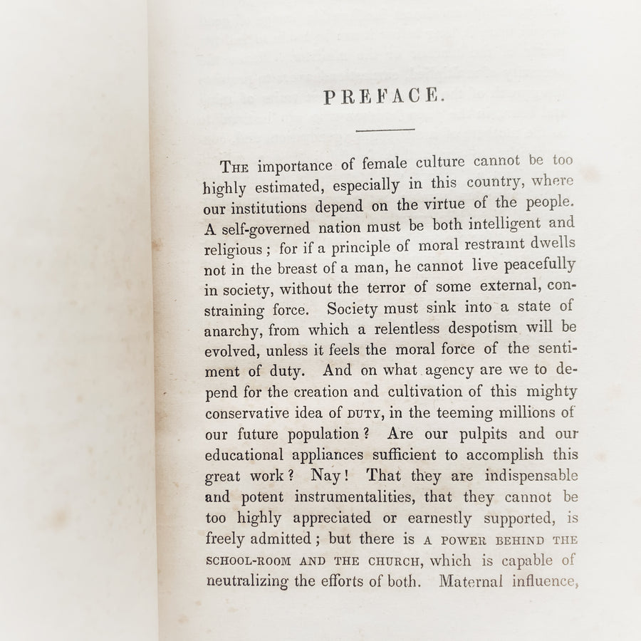 1852 - The Young Lady's Counsellor, First Edition