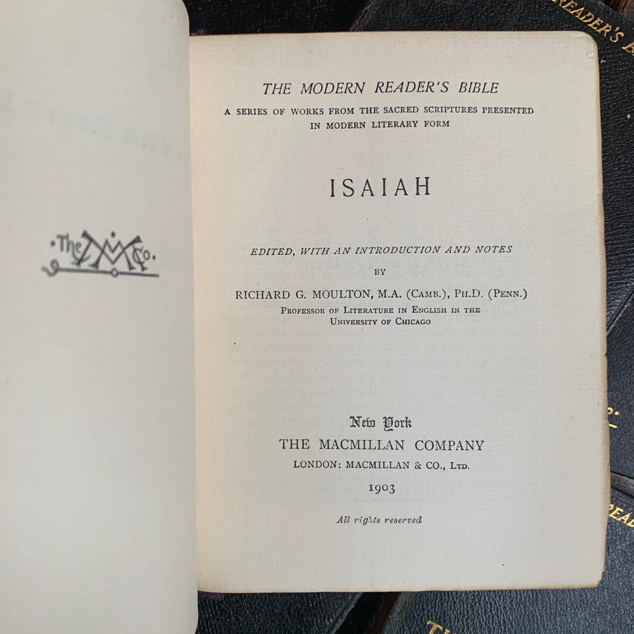 1901 - The Modern Reader's Bible
