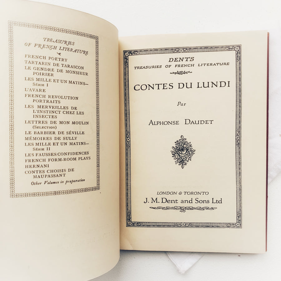 1929 - Contes Du Lundi, Dent's Treasuries of French Literature (In French)