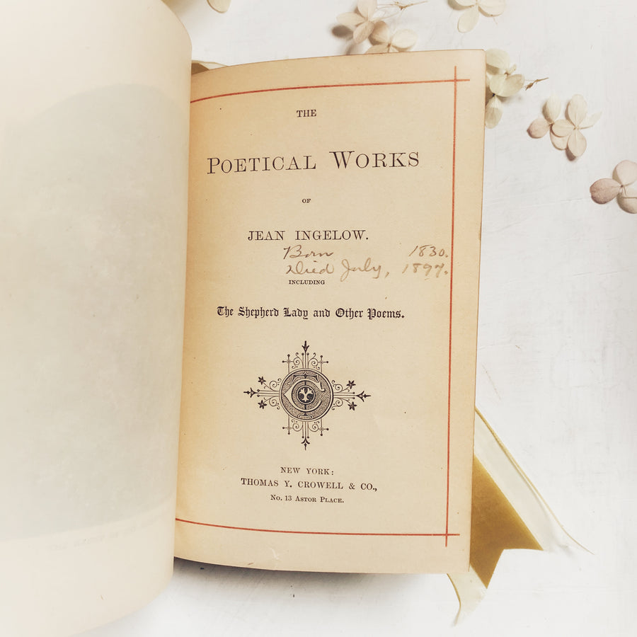 c.1880s - The Poetical Works of Jean Ingelow