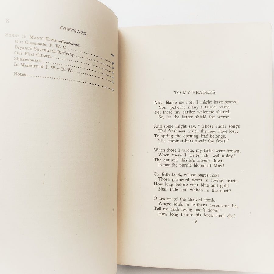 c. Late 1800s-Early 1900s - Poems By Oliver Wendell Holmes