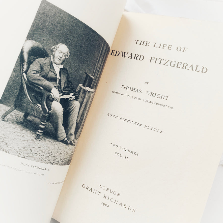 **RESERVED for Juls** 1904 - The Life of Edward Fitzgerald