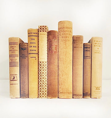 Neutral Vintage Book Stack