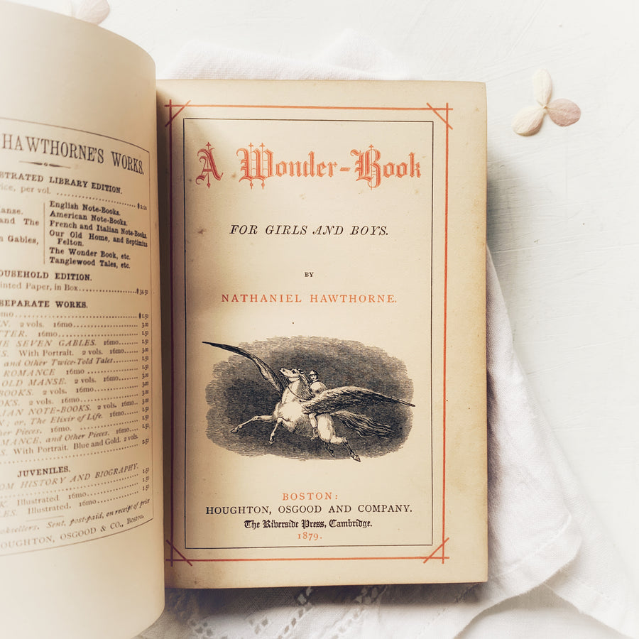 **Reserved for Stephanie- 1879 - Hawthorne's Wonder-Book