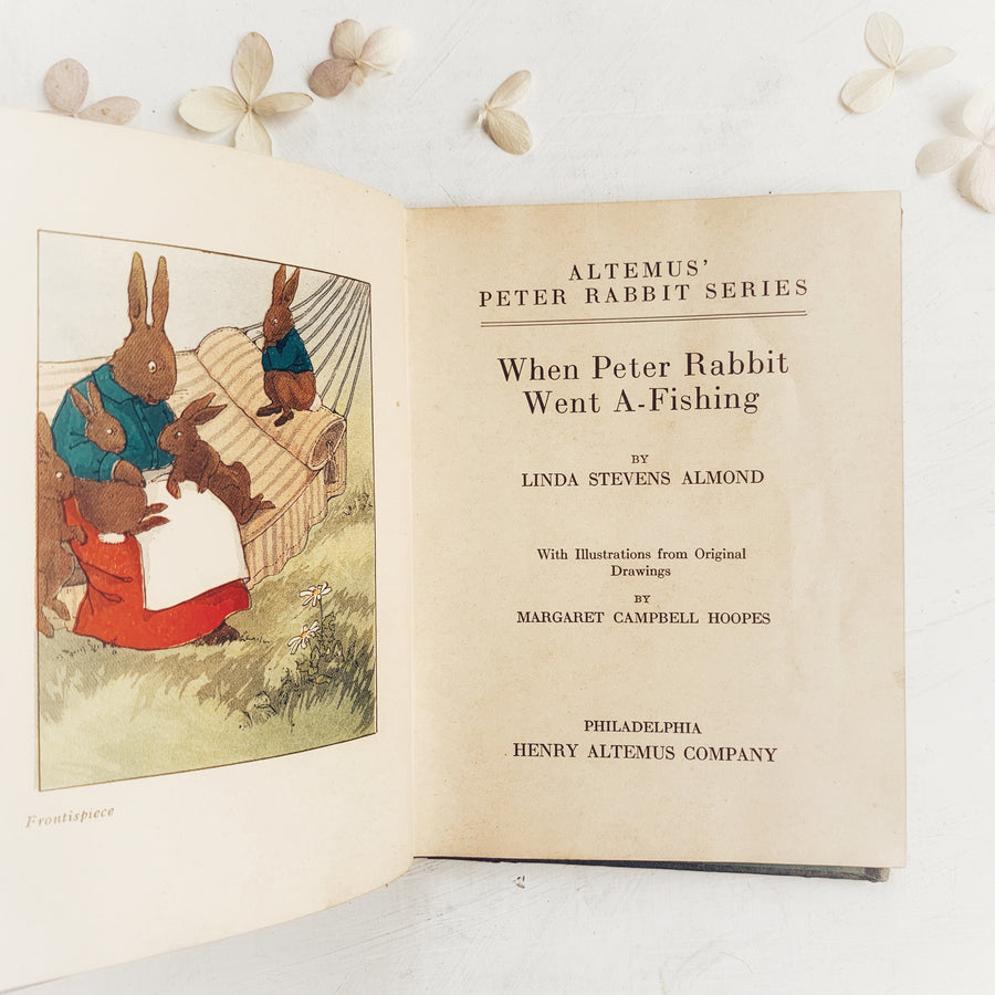 1923- When Peter Rabbit Went A-Fishing, Henry Altemus