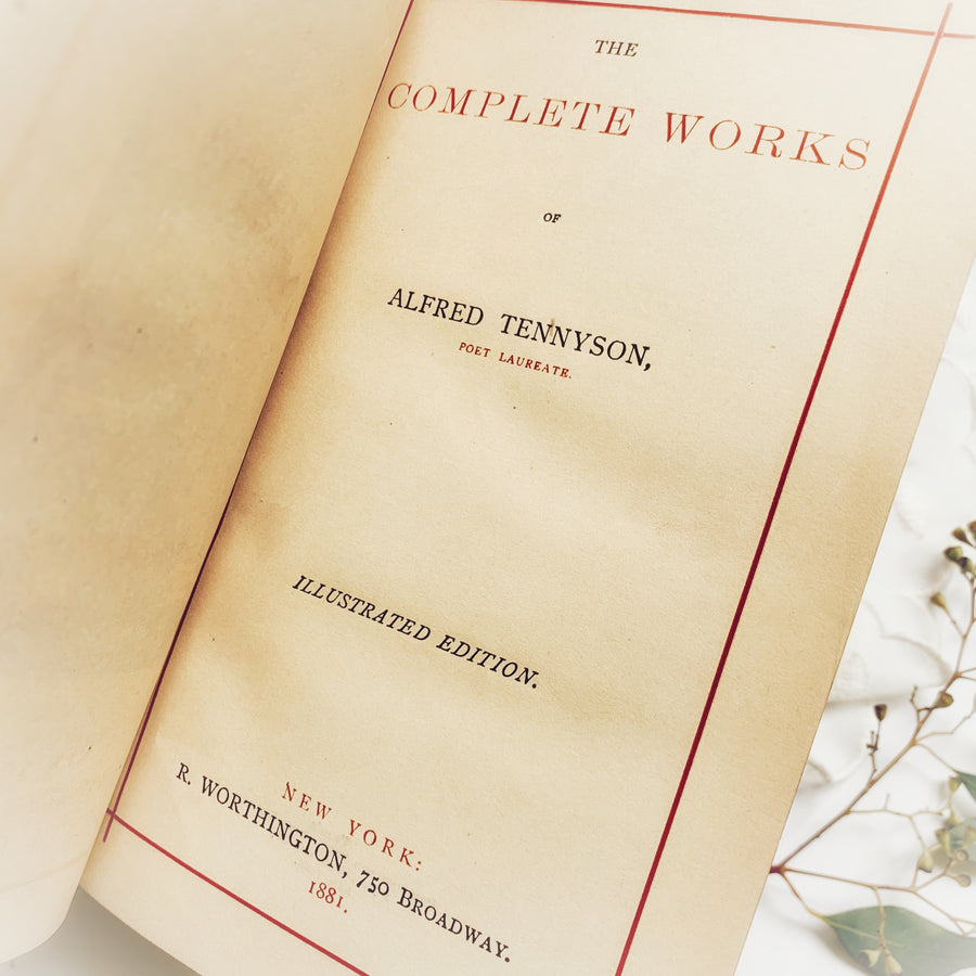 1881 - The Complete Works of Alfred Tennyson