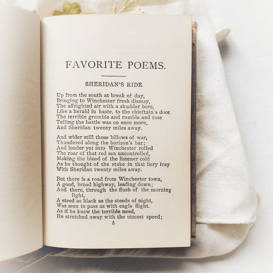 Favorite Poems, American and English