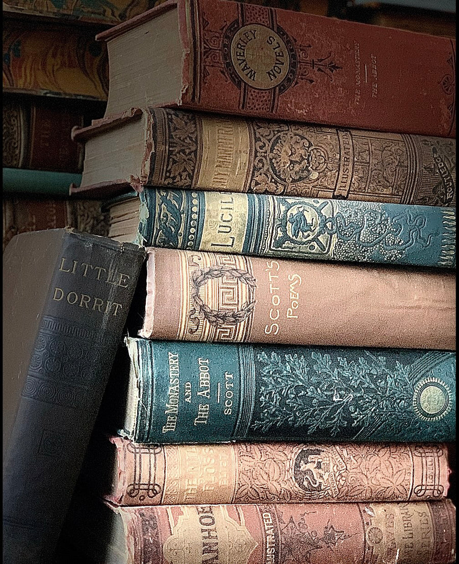Antique Decorative Book Collection
