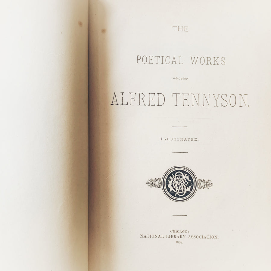 1888 - The Poetical Works of Alfred Tennyson, First Edition