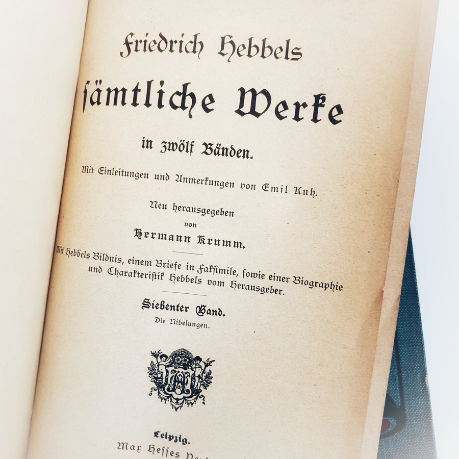 Late 1800s - Friedrich Hebbels Works