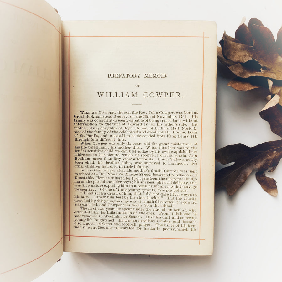 1881 - The Poetical Works of William Cowper