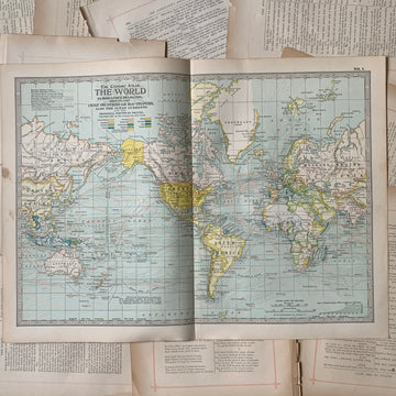 1897 The World Map – Original Lithograph