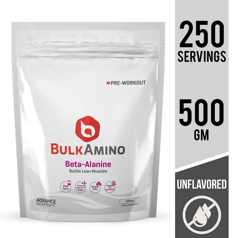 BulkAmino Beta-Alanine Unflavoured Powders - Brutecart