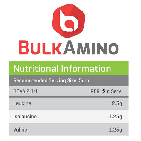 Image of BulkAmino BCAA 2:1:1 Branch Chain Amino Acid