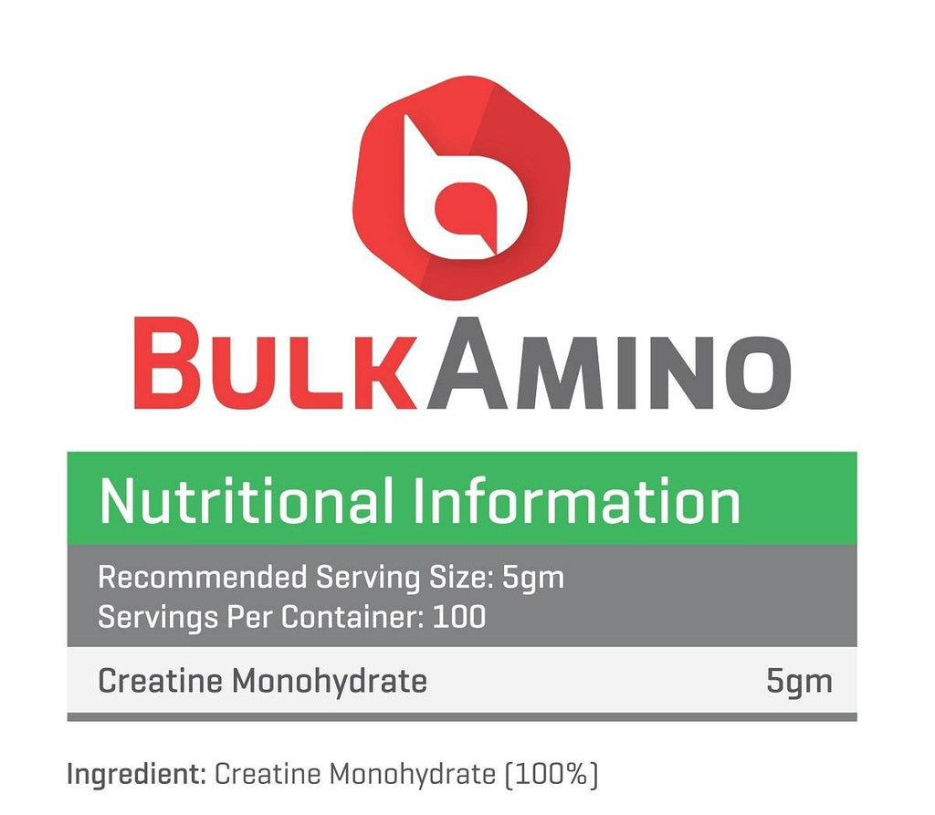 BulkAmino Creatine Mono-hydrate Micronized Powders