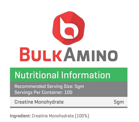 Image of BulkAmino Creatine Mono-hydrate Micronized Powders