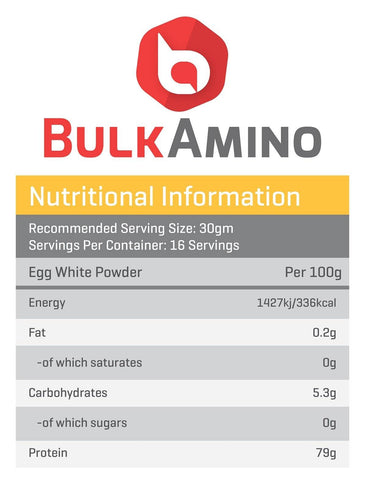 Image of BulkAmino Egg Protein Unflavor Powders - (300g|500g|100g)