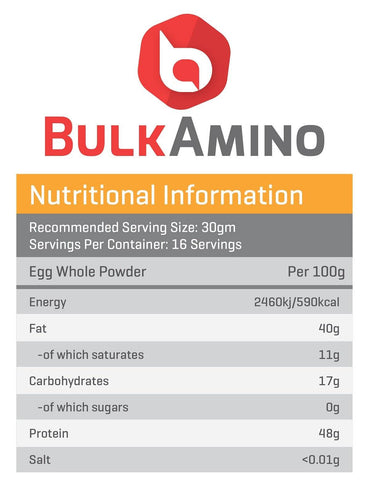 Image of Advance Combo of BulkAmino Egg Whole 300g & Glutamine UnFlavor Powder 100g